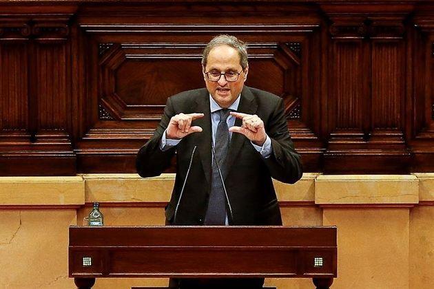 Quim Torra, su intervención en el debate de política general que anualmente celebra el Parlament de Cataluña