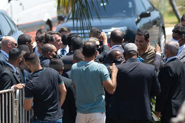 Bolsonaro em visita evento da Assembleia de Deus, no Distrito Federal, em que o mandatário provocou