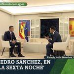 El sutil detalle en esta imagen de Pedro Sánchez en 'La Sexta Noche': Fernando Simón estará