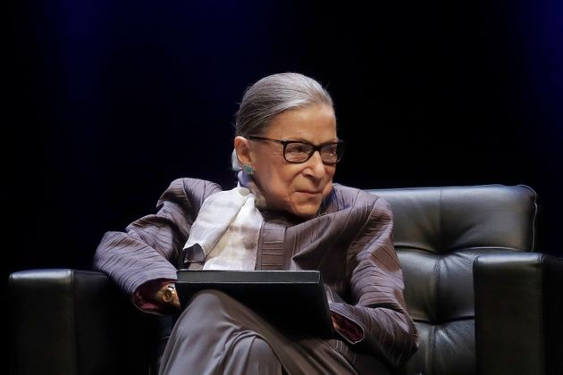 La juge de la Cour Suprême Ruth Bader Ginsburg, ici en octobre 2019, est morte à l'âge...