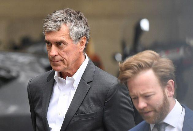 L'ancien ministre du Budget, Jerôme Cahuzac, lors de son arrivée au tribunal en mai 2018...