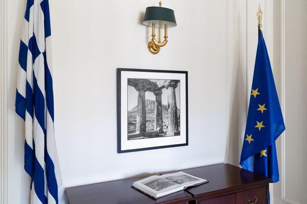 Αποψη εσωτερικών χώρων του ιστορικού κτηρίου που φιλοξενεί το Γενικό Προξενείο της Ελλάδας στην