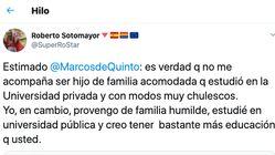 El leñazo de Roberto Sotomayor a Marcos de Quinto sobre los ricos, los humildes y la