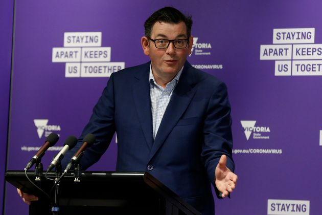 MELBOURNE, AUSTRALIA - SEPTEMBER 20: Victorian Premier Daniel Andrews speaks at the daily briefing on...