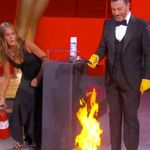Jennifer Aniston Puts Out Fire On Emmys Stage And Now We're On A Break From