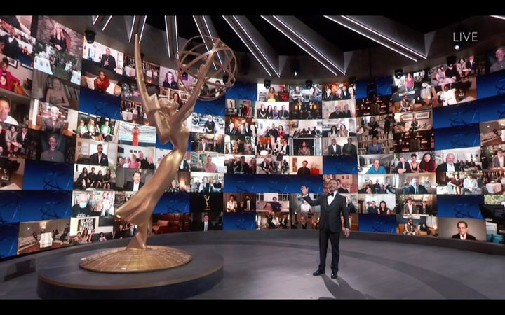 Jimmy Kimmel hosted this year's Emmy Awards amid the coronavirus pandemic and social distancing guidelines.