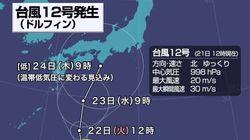 台風12号「ドルフィン」が発生。秋雨前線と作用し本州で大雨のおそれ