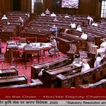 Chaos In Rajya Sabha After 8 Suspended MPs Refuse To