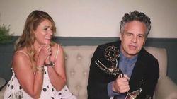 La actriz Sunrise Coigney, mujer de Mark Ruffalo, le roba el protagonismo por lo que hizo cuando ganó el