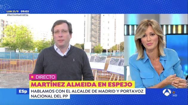 José Luis Martínez-Almeida, este lunes en 'Espejo