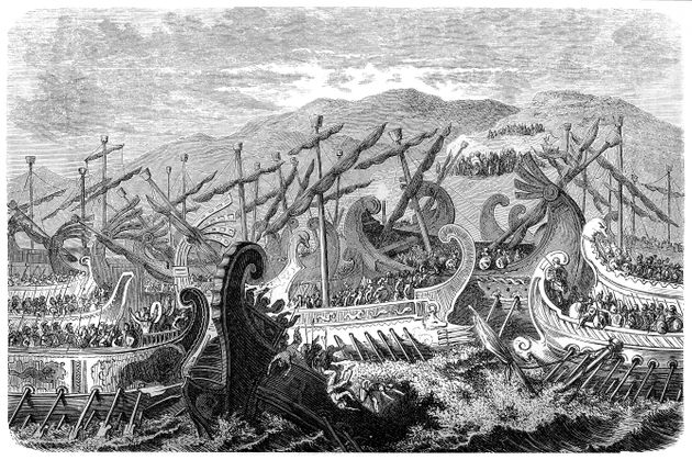 Illustration of a Battle of Salamis (480