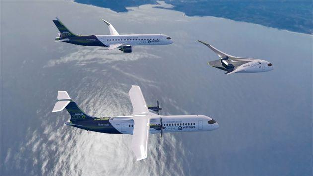 Airbus a dévoilé ce lundi 21 septembre trois concepts d'avion fonctionnant à l'hydrogène. L'entreprise...