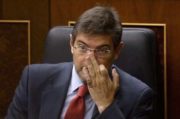 El exministro popular de Justicia, Rafael Catalá, en el Congreso en noviembre de