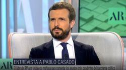 Decenas de usuarios se fijan en el mismo detalle de la cara de Pablo Casado en su entrevista con Ana