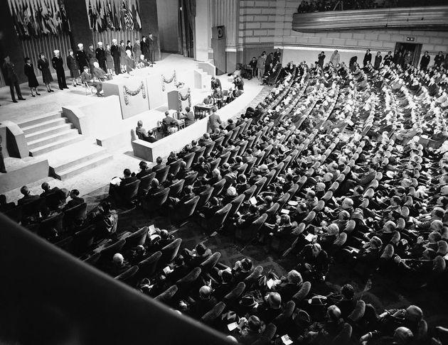 Primer plenario de la ONU, en San Francisco, en