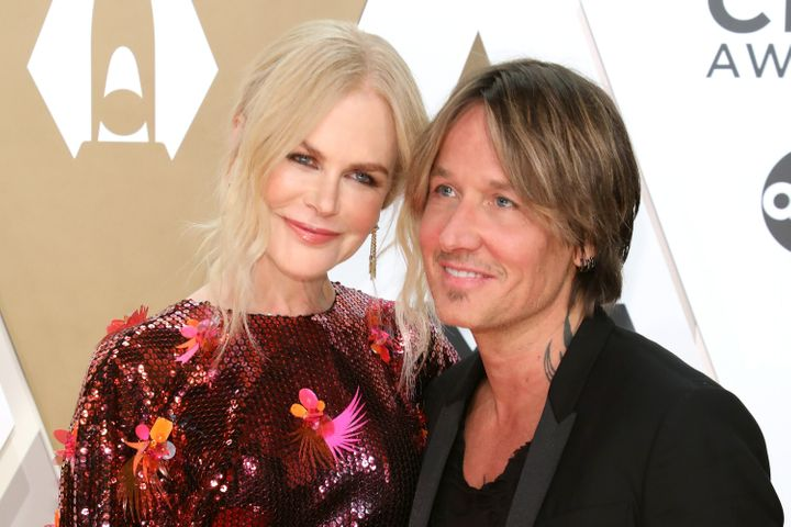 Nicole Kidman has introduced the newest member of her family - pictured here with husband Keith Urban at the 53nd annual CMA Awards on November 13, 2019 in Nashville, Tennessee.
