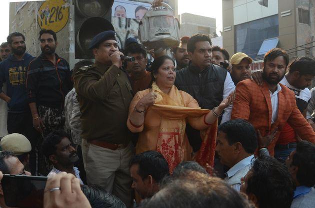 BJP leader Kapil Mishra at Maujpur on February 23,