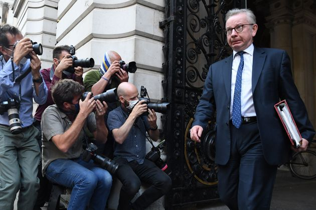 Chancellor of the Duchy of Lancaster Michael Gove leaves the Foreign and Commonwealth Office, London, following a Cabinet meeting.
