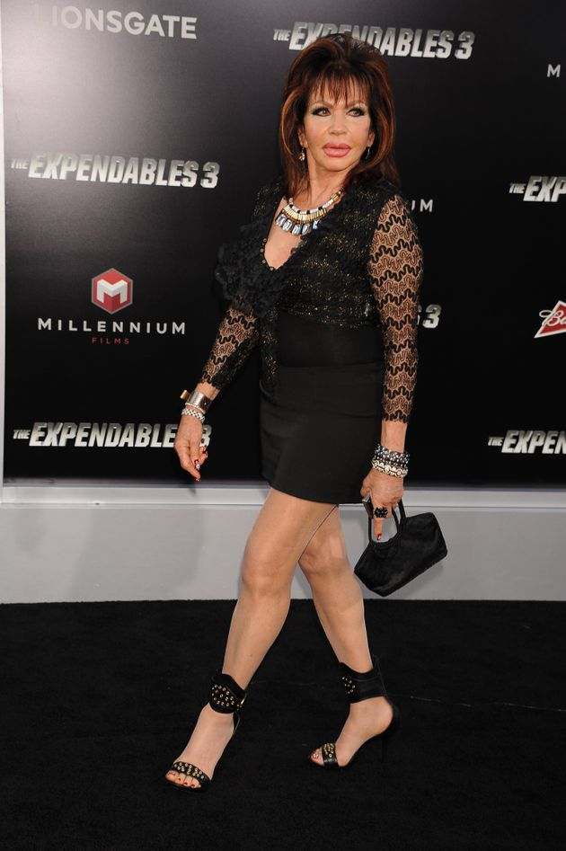 Ivone Weldon arrives at the premiere of The Expendables 3 held at TCL Chinese Theater in Hollywood