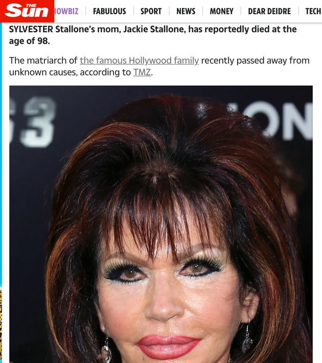 Jackie Stallone's death
