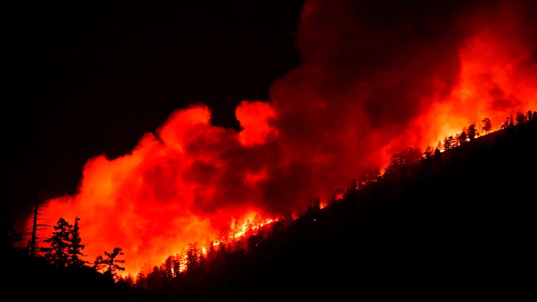Enormous California Wildfire Threatens Homes Near Mojave Desert