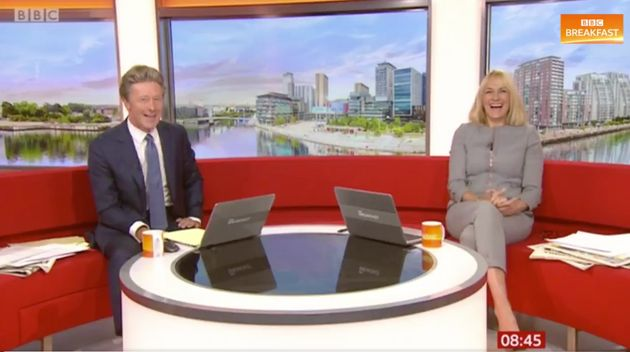 BBC Breakfast hosts Charlie Stayt and Louise