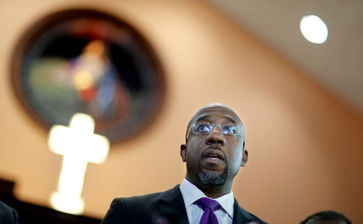 Rev. Raphael Warnock responds to President Donald Trump's comments about Haiti and Africa while speaking at Ebenezer Baptist