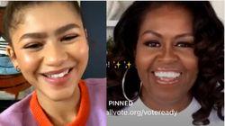 'Proud' Michelle Obama Congratulates Zendaya On Historic Emmy