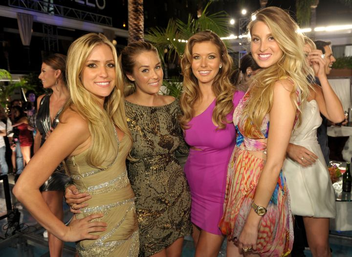 """Kristin Cavallari, Conrad, Audrina Patridge and Port attend MTV's """"The Hills Live: A Hollywood Ending"""" event in 2010."""