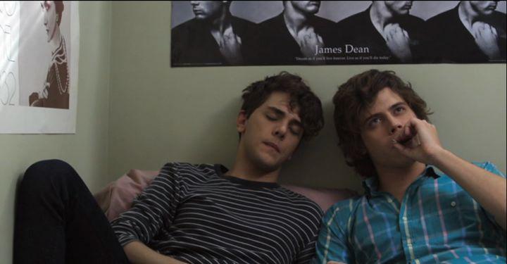"""Xavier Dolan, left, with Francois Arnaud in """"J'ai tué ma mère."""""""