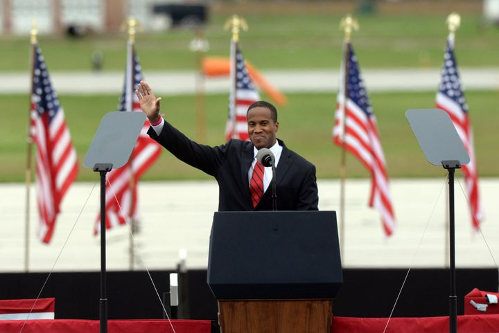 Republican John James is the only Black GOP Senate candidate this cycle.
