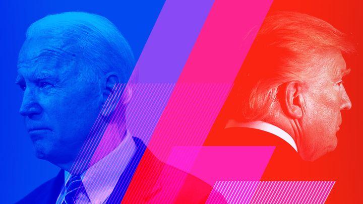 Joe Biden, left, Donald Trump.