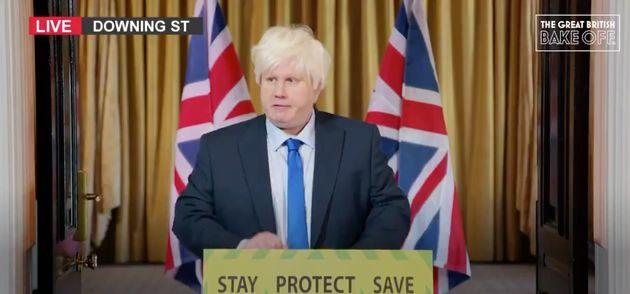 Matt Lucas as Boris Johnson on The Great British Bake