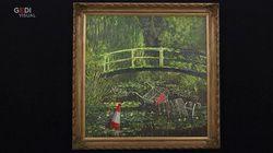 Il Banksy che rivisita Monet va all'asta da Sotheby's: vale tra i 3 e i 5 milioni di sterline
