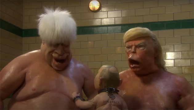 Johnson, Trump and Putin featured in a trailer released last week