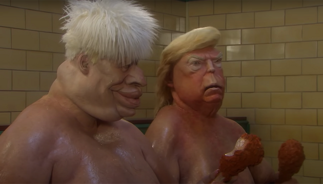 Spitting Image Trailer Sees Boris And Trump Having A Very NSFW Naked Duel