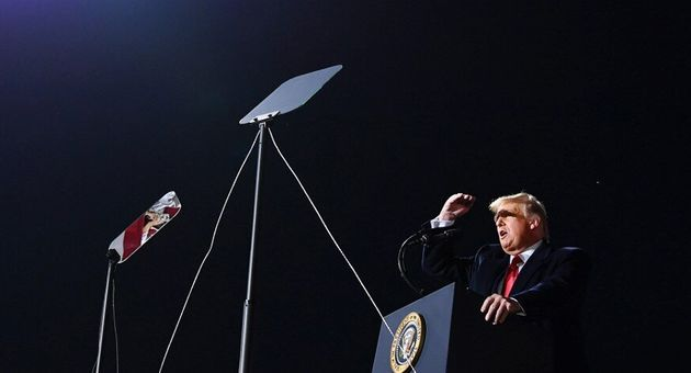 Le président américain le 21 septembre 2020 à l'aéroport de Swanton dans