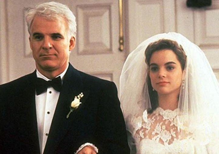 Steve Martin y Kimberly Williams-Paisley, en 'El padre de la novia' (1991).