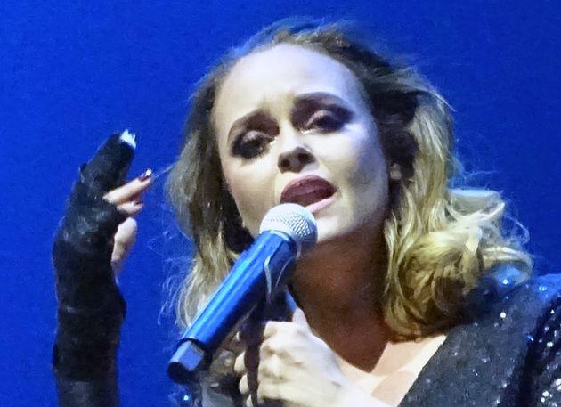 Shaila Dúrcal en una actuación en Los Ángeles en agosto de