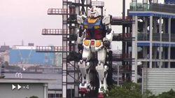 Gundam diventa realtà. Il robot alto 18 metri muove i suoi primi passi in