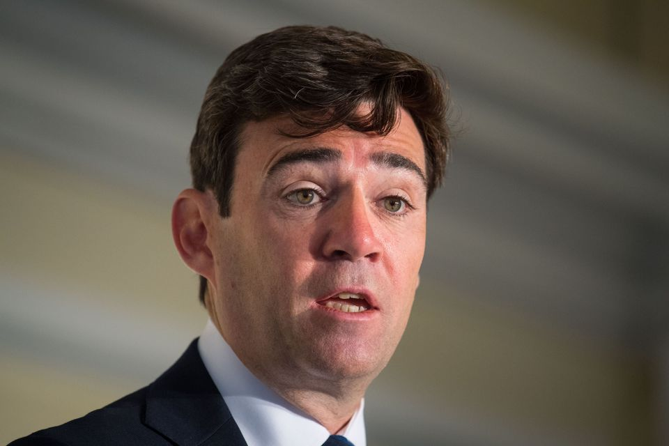 Mayor of Greater Manchester Andy Burnham