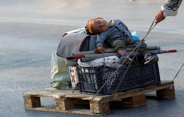 Η φωτογραφία του Reuters από τη Λέσβο που έγινε