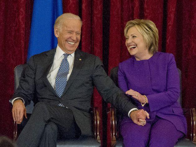 08/12/2016 Washington, presentazione del ritratto di Harry Reid, nella foto Joe Biden e Hillary