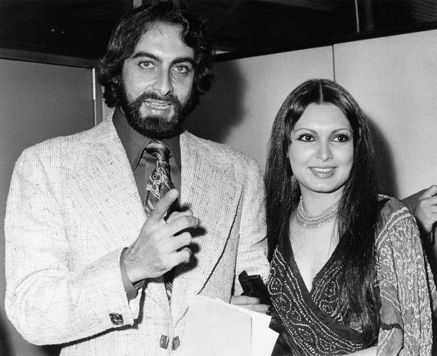 Actor Kabir Bedi with Parveen Babi in Rome in