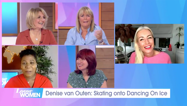 Denise Van Outen joined the Loose Women on Wednesday's show.