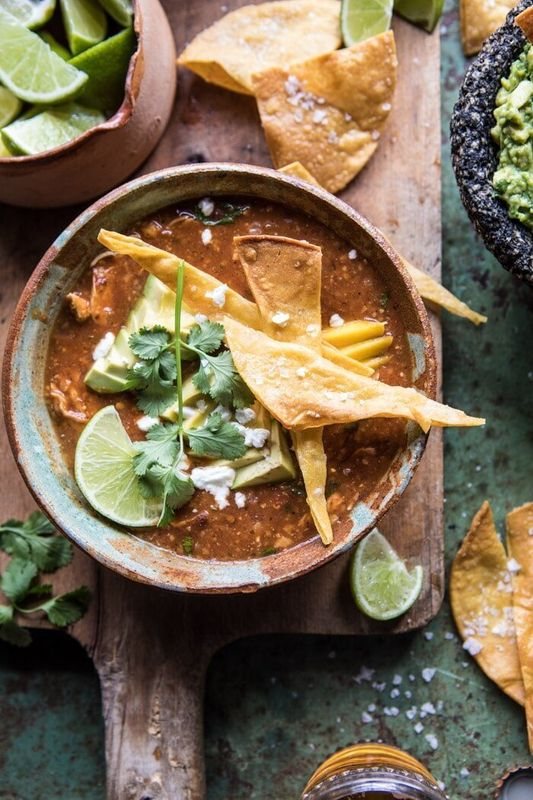 Slow Cooker Chipotle Chicken Tamale Chili from Half Baked Harvest