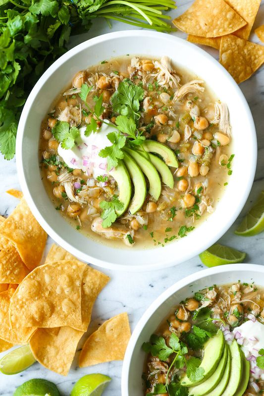 Slow Cooker White Chicken Chili from Damn Delicious