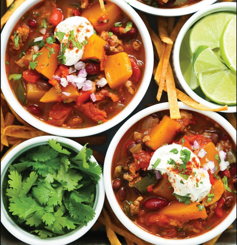 Slow Cooker Butternut Squash Chili from Damn Delicious