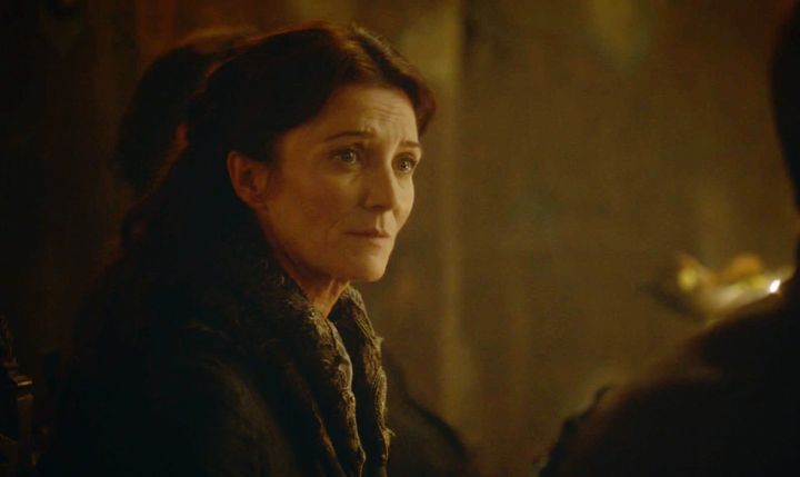A disappointed sigh from Catelyn is coming.