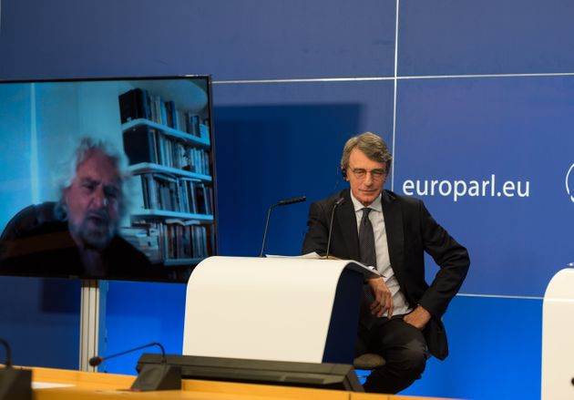 European Parliament President David Sassoli in Debat named Will Europe be the engine of a green and socially...